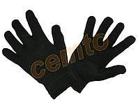 Перчатки вязаные  двойные зимние утепленные, полушерстяные двойные, рукавички в'язані утеплені зимові, фото 1