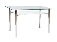 Стол обеденный стеклянный Esta Signal белый