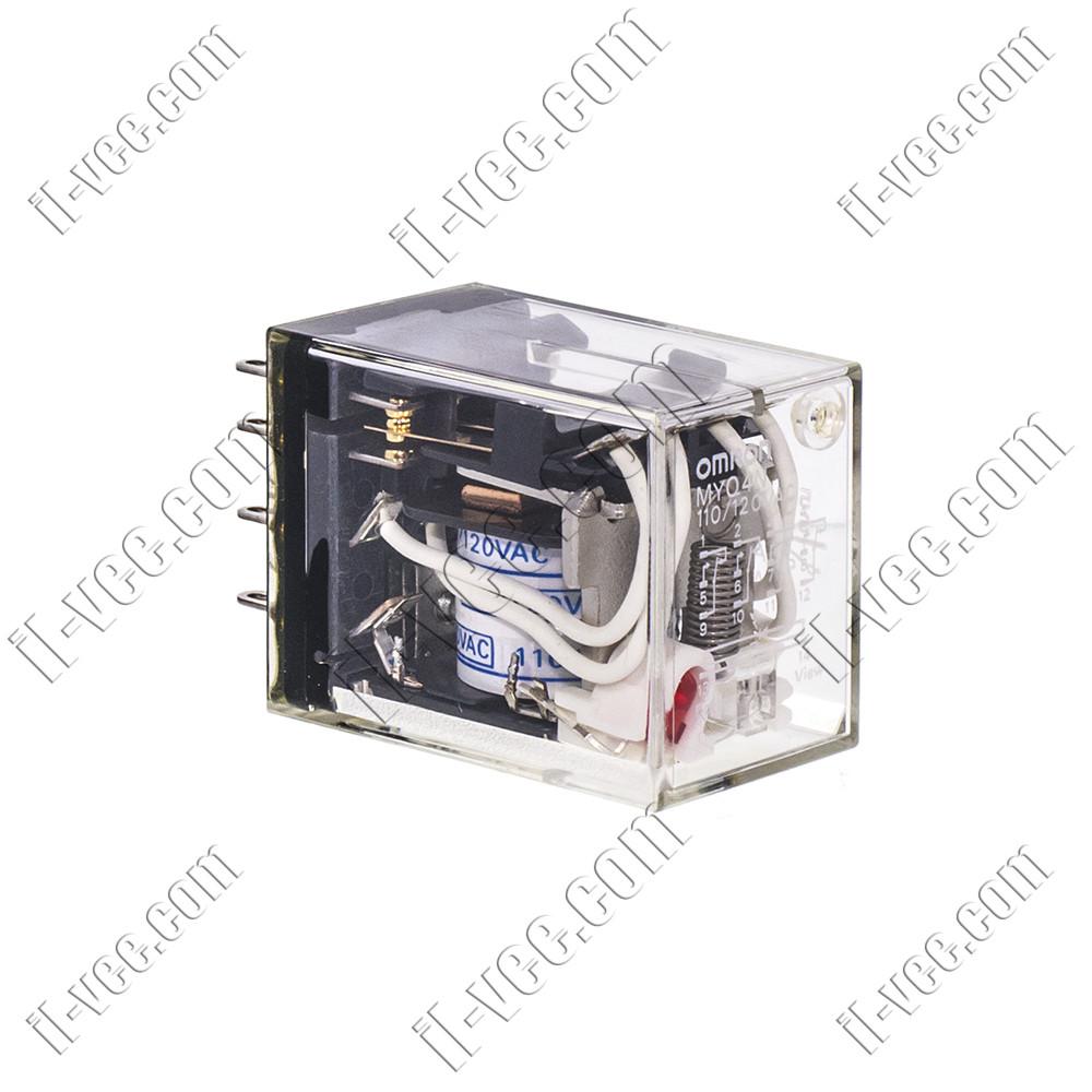 Реле OMRON MYQ4N 110/120VAC, 10A/220VAC, 10A/24VDC