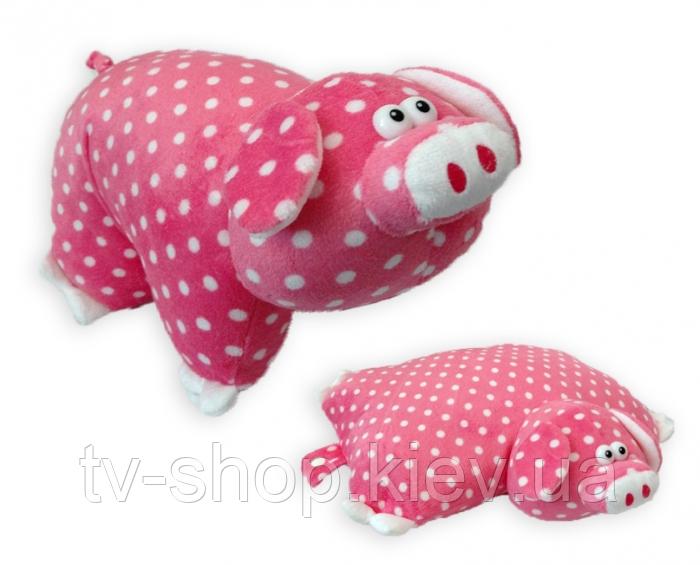 Подушка-іграшка Порося рожевий в горох
