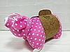 Подушка-іграшка Порося рожевий в горох, фото 2