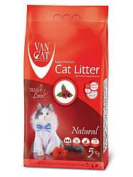 Наповнювач Van cat Ван кет бентонітовий грудкуючийся для котячого туалету Натуралний 5 кг