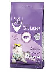Наповнювач Van cat Ван кет бентонітовий грудкуючийся для котячого туалету з Лавандою 5 кг