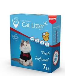 Наповнювач Van cat Ван кет бентонітовий грудкуючийся для котячого туалету Ультра фреш 7л