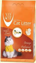 Наповнювач Van cat Ван кет бентонітовий грудкуючийся для котячого туалету з Апельсином 5 кг
