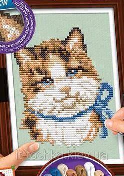 Набор вышивки крестиком на канве dankotoys vkb-01-02 cross stitch Кошка