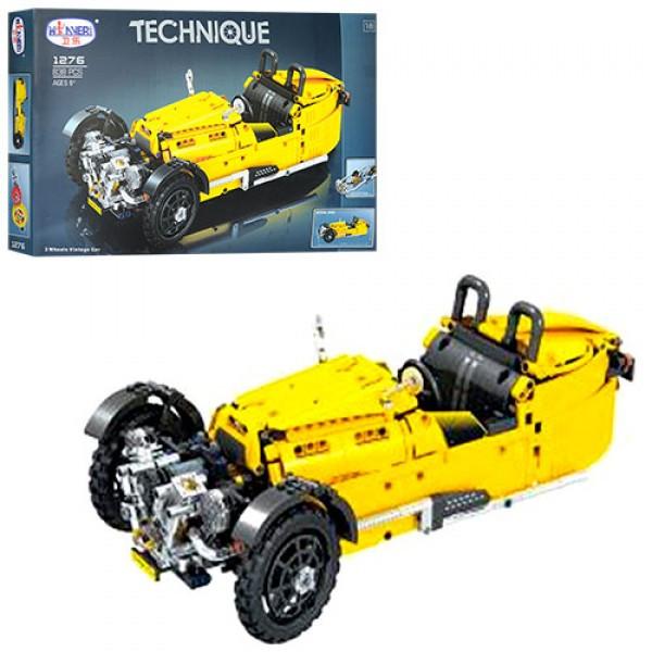 Конструктор типа лего - гоночный ретро автомобиль на 838 деталей, 1276