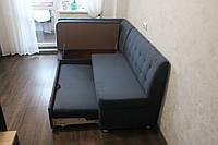 Кухонный мягкий уголок серого цвета , фото 1
