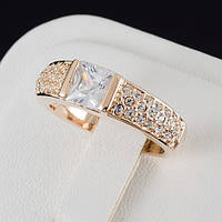 Очаровательное кольцо с кристаллами Swarovski и c позолотой 0487