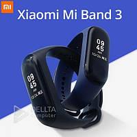 Фитнес - браслет M3C Plus: Xiaomi Mi Band 3 синие, LCD экран, USB, силиконовый ремешок, смарт часы, Умные часы Xiaomi