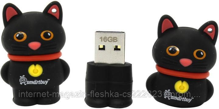 Флешка -игрушка 16 гб Smartbuy USB 2.0 Black Catty