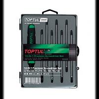 Набор отверток (T5-T20,PH,SL)   14 в 1 GAAW0804 ( Toptul, Тайвань)