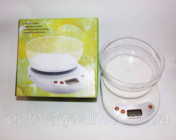 Ваги кухонні з чашею 5 кг, фото 2