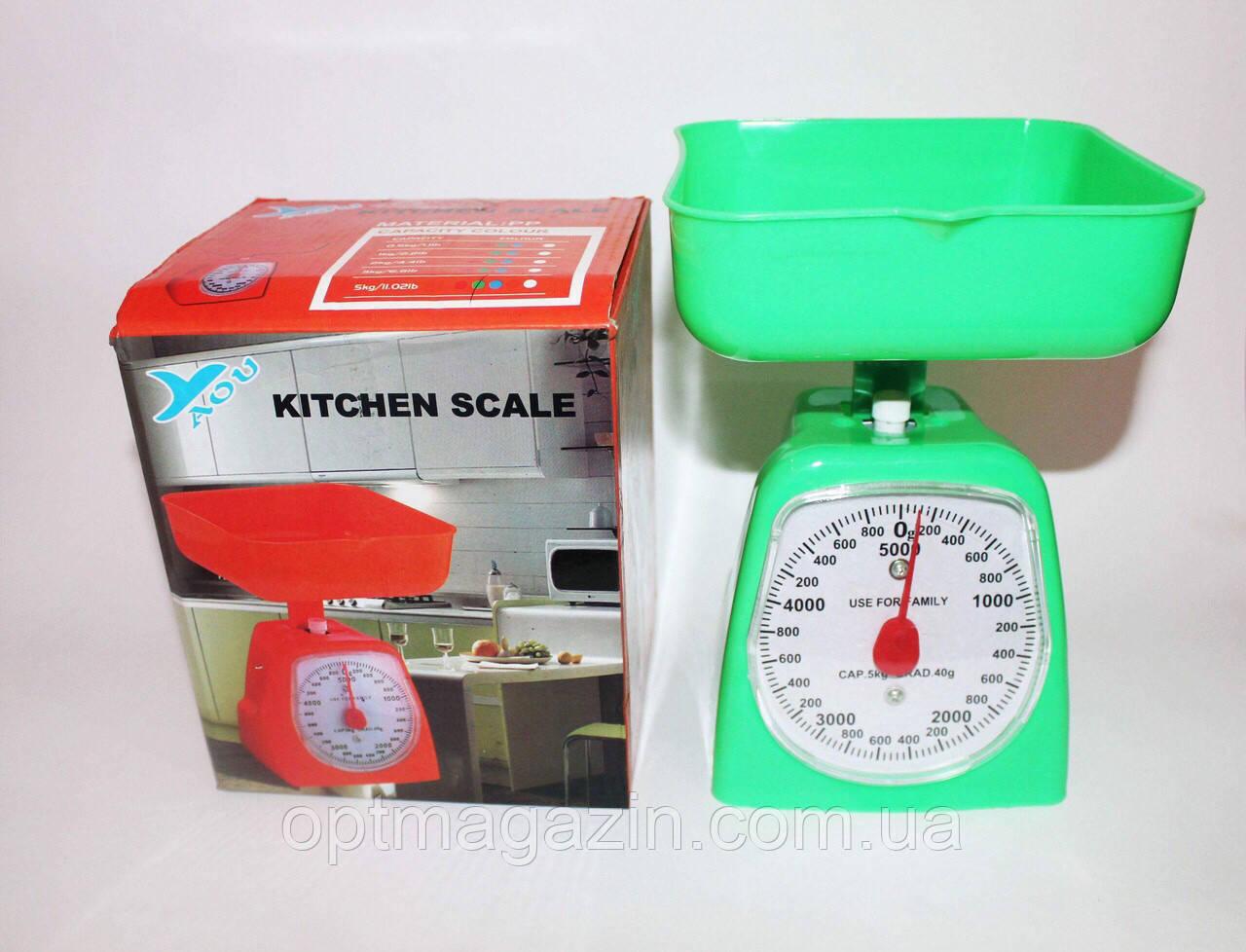 Весы с чашей. Кухонные весы механические 5 кг.