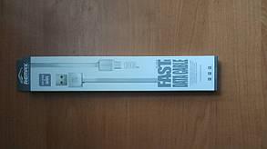 Кабель Micro USB REMAX Fast Data RC-008m 1m white, фото 2