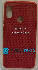 Оригинальный Силиконовый Чехол для Xiaomi Redmi 6 Pro Silicone Case (Красный)