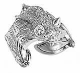 Кольцо мужское серебряное Летучая мышь 212 800, фото 3
