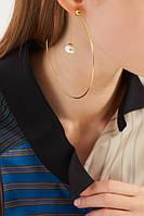 Серьги-кольца с позолотой: возвращение моды 80-х