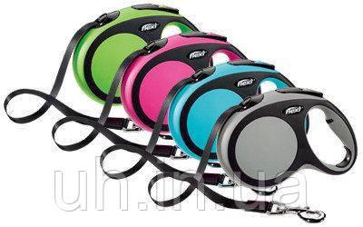 Flexi New comfort tape  поводок-рулетка для собак 5 м