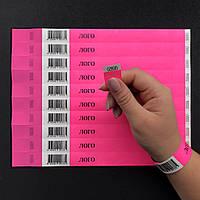 Бумажные контрольные браслеты Tyvek — 3/4'' (19мм) + ШТРИХ-КОД от 100 шт.