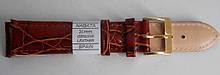 Ремешок кожаный NAGATA (ИСПАНИЯ) 20 мм, коричневый, лак