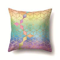 Подушки для декора Радужные кубы 45 х 45 см Berni