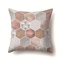 Подушка декоративная Шестиугольники 45 х 45 см Berni