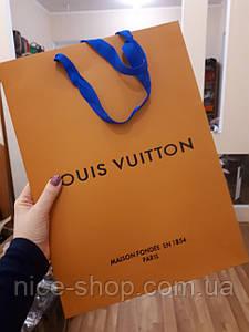 Подарочный пакет Louis Vuitton желтый, вертикаль,mах