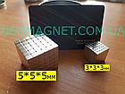 Неокуб NeoCube Тетракуб [Кубик 3х3х3мм * 216 кубиков] + Металлическая Коробка в Подарок, фото 3