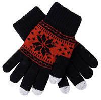 Перчатки со снежинкой для сенсорных телефонов и планшетов 5 штук