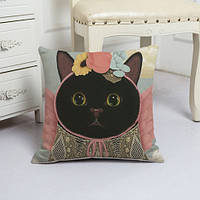 Подушка декоративная Миссис кошка 45 х 45 см Berni