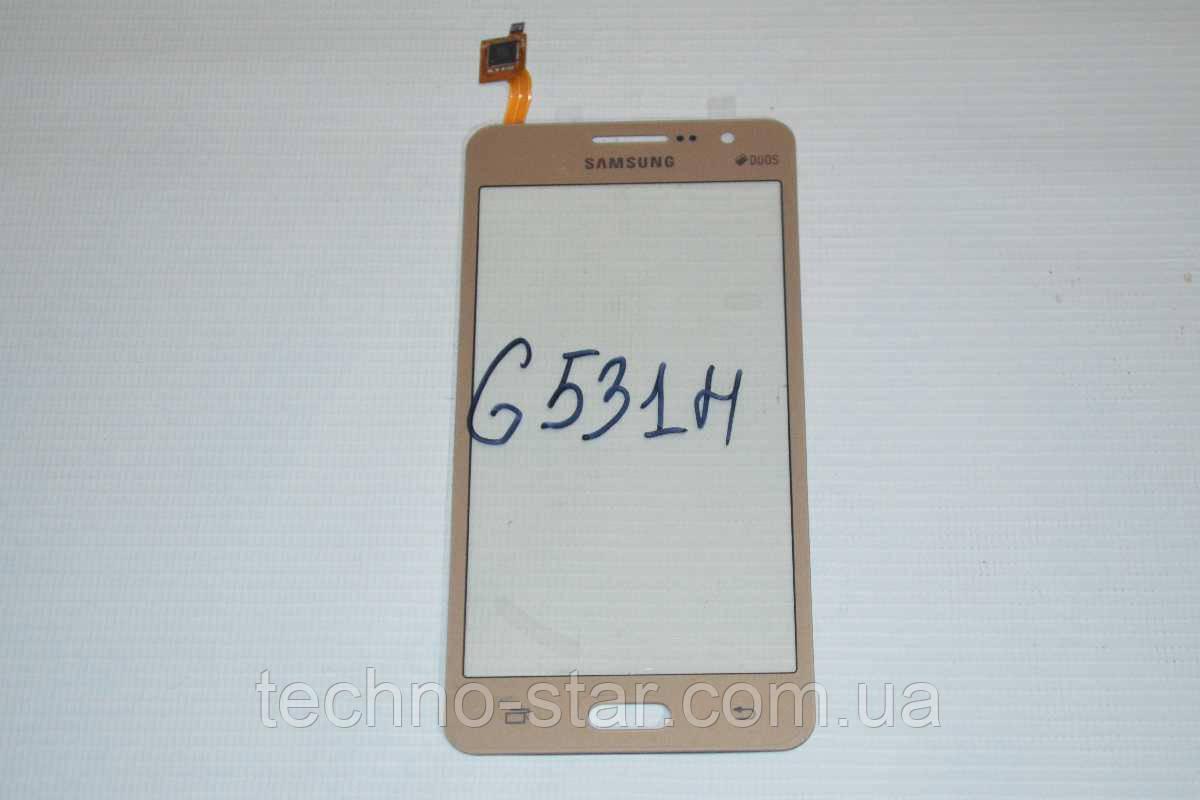 Тачскрин / сенсор (сенсорное стекло) Samsung Galaxy Grand Prime VE Duos G531 G531H G531F (золотой, самоклейка)