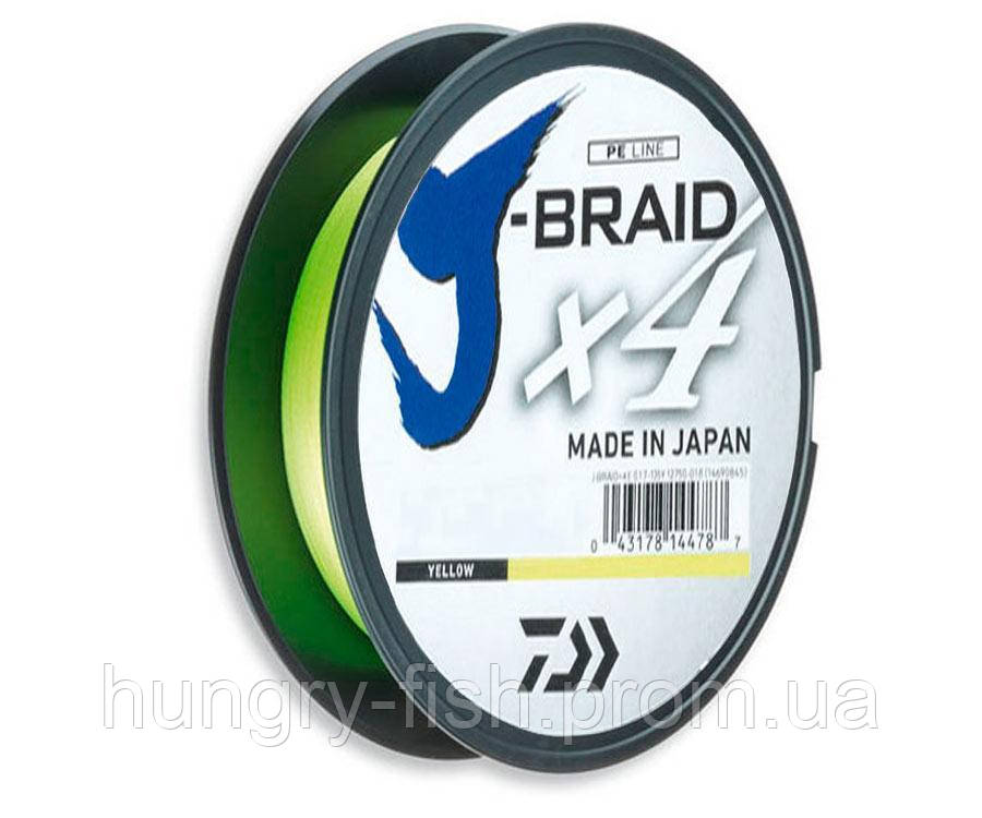 Шнур Daiwa J-Braid x4 Yellow 270 м