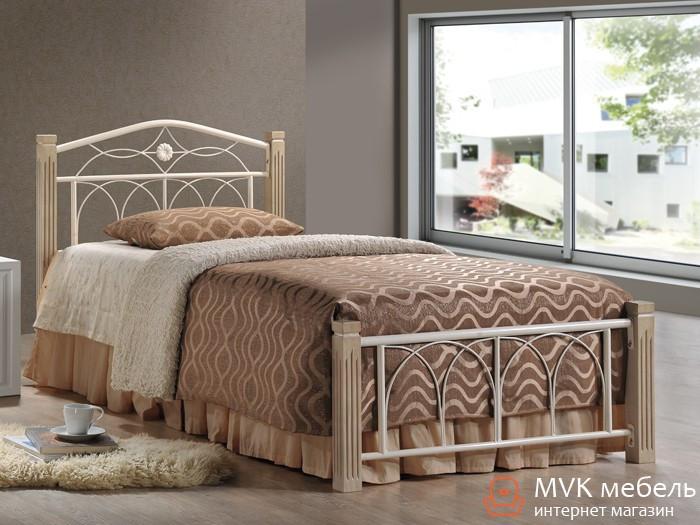 Кровать односпальная Миранда-90 М (крем)