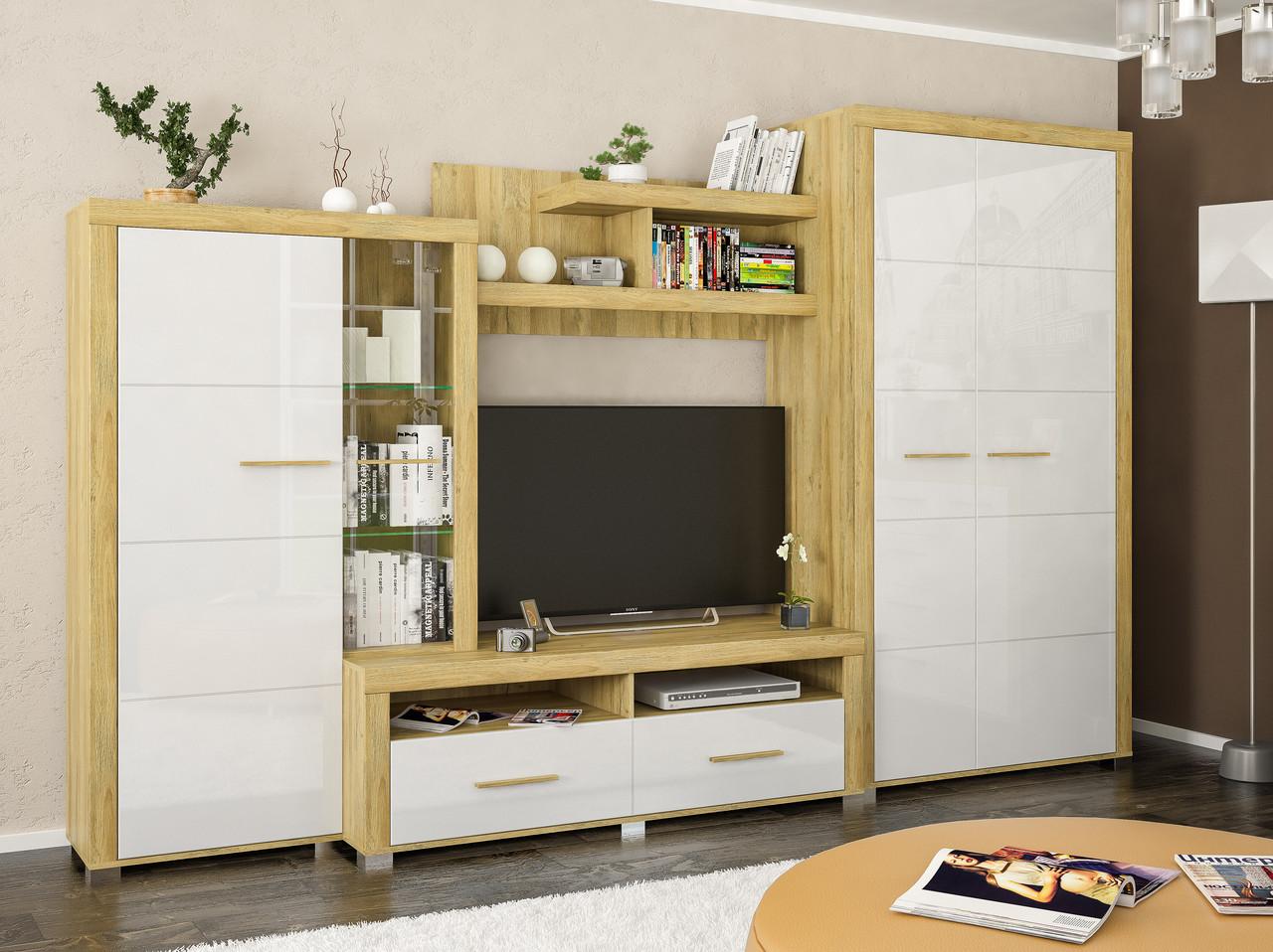 Стенка Неон 2 белый глянец Мебель-сервис