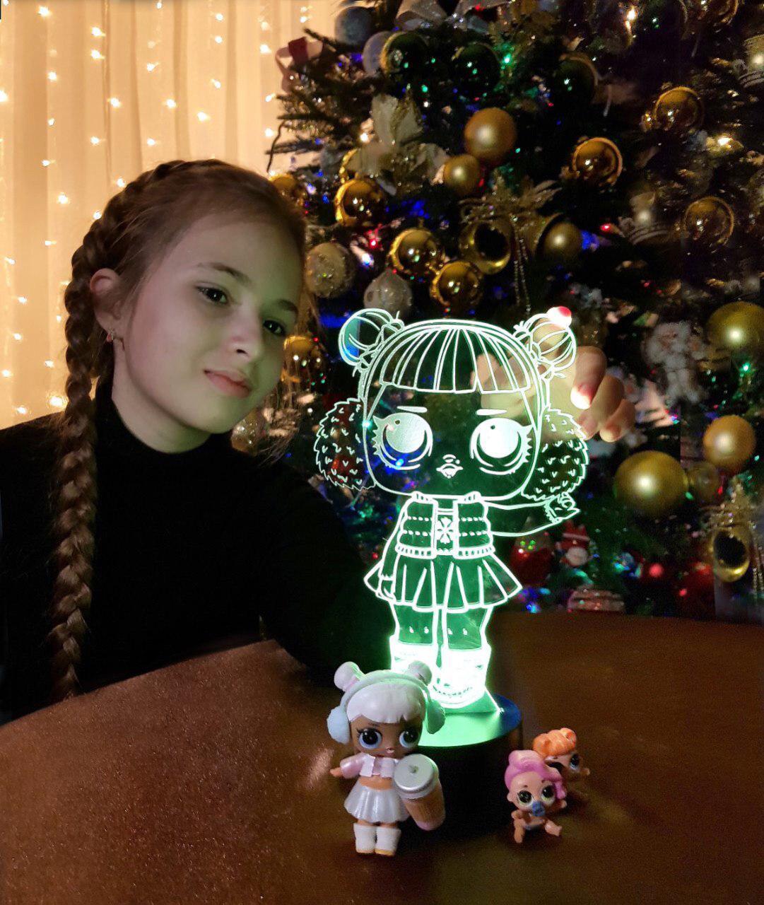 Детский ночник -светильник «LOL»-3 3DTOYSLAMP, фото 1