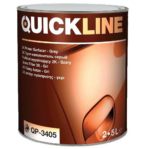 Грунт-наполнитель Quickline QP-3405 (серый, 2,5л) + ОТВЕРДИТЕЛЬ (0,5л)