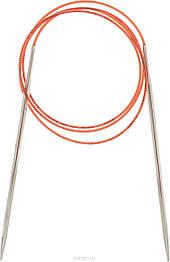 Спицы Адди круговые на леске с удлинённым кончиком полированная латунь 100 см