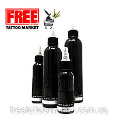 Тату фарба SOLID INK BLACK Grey LABEL Wash MEDIUM 4 унц (120мл)