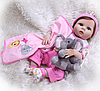 Кукла реборн Reborn doll Alya голубоглазая малышка.  (11396)