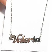 """Именной кулон из серебра 925 """"Валерия"""" покрыт родием"""