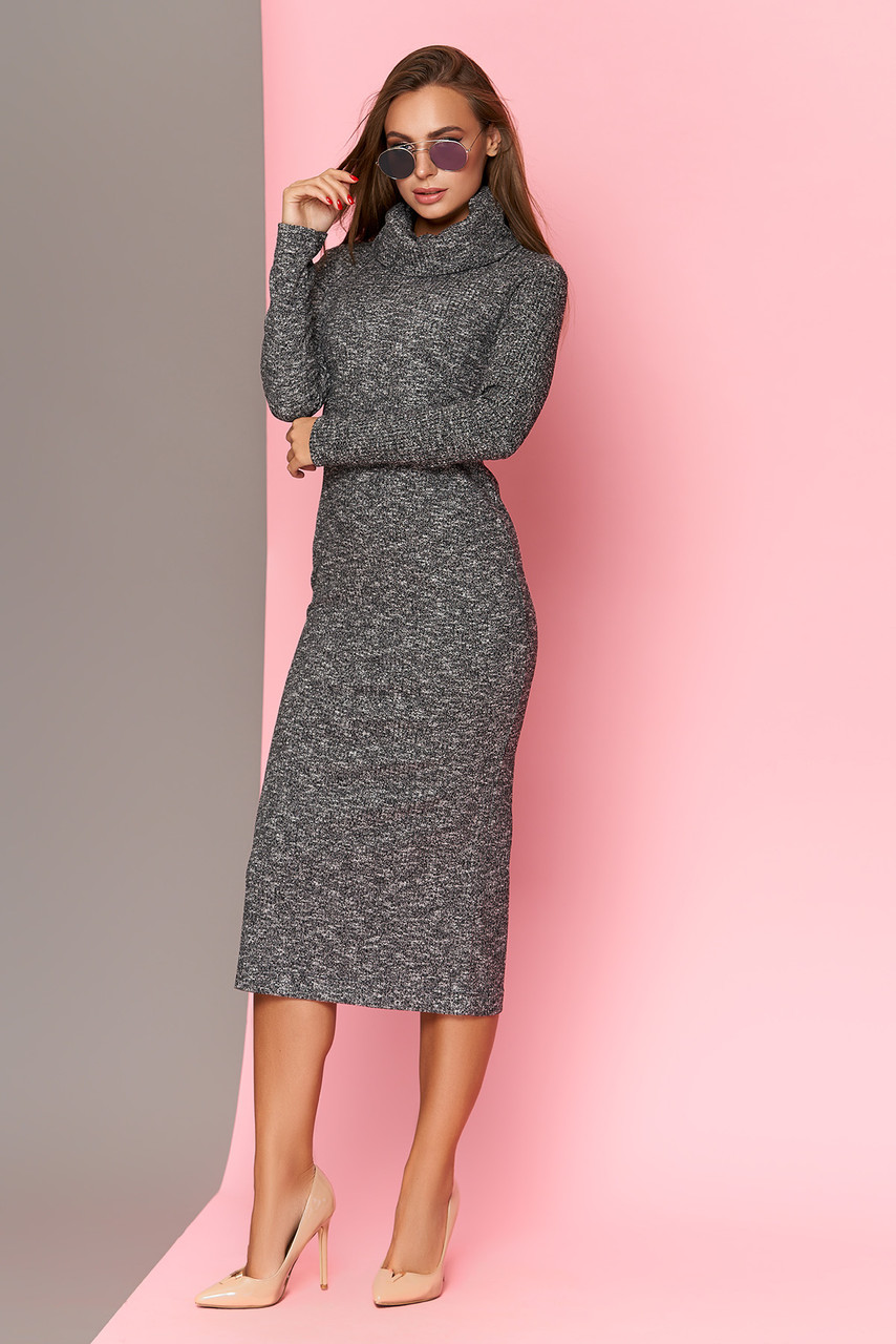 Стильное платье с хомутом 44-54рр.
