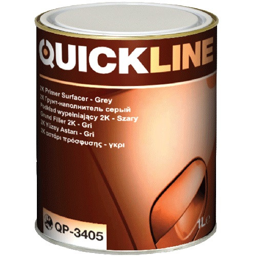 Грунт-наполнитель Quickline QP-3405 (серый, 1л) + ОТВЕРДИТЕЛЬ