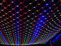 Гирлянда новогодняя светодиодная LED сетка штора мульти 1.2*1,2 м