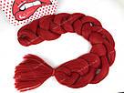 ❤️ Каникалон 100 см. ❤️ для брейд, кос и причёсок красный, фото 5