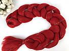 ❤️ Каникалон 100 см. ❤️ для брейд, кос и причёсок красный, фото 6