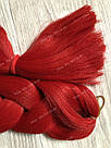 ❤️ Каникалон 100 см. ❤️ для брейд, кос и причёсок красный, фото 3