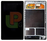 Дисплей для Asus ME571 Google Nexus 7 (2013) + тачскрин, черный, версия Wi-Fi, с передней панелью