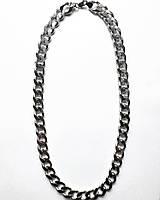 Мужская цепь на шею из серебра 61 см панцирное плетение 168 грамм
