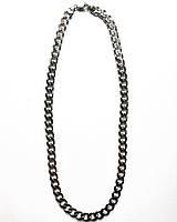 Чоловіча ланцюг зі срібла 55 см панцирні плетіння 75 грам